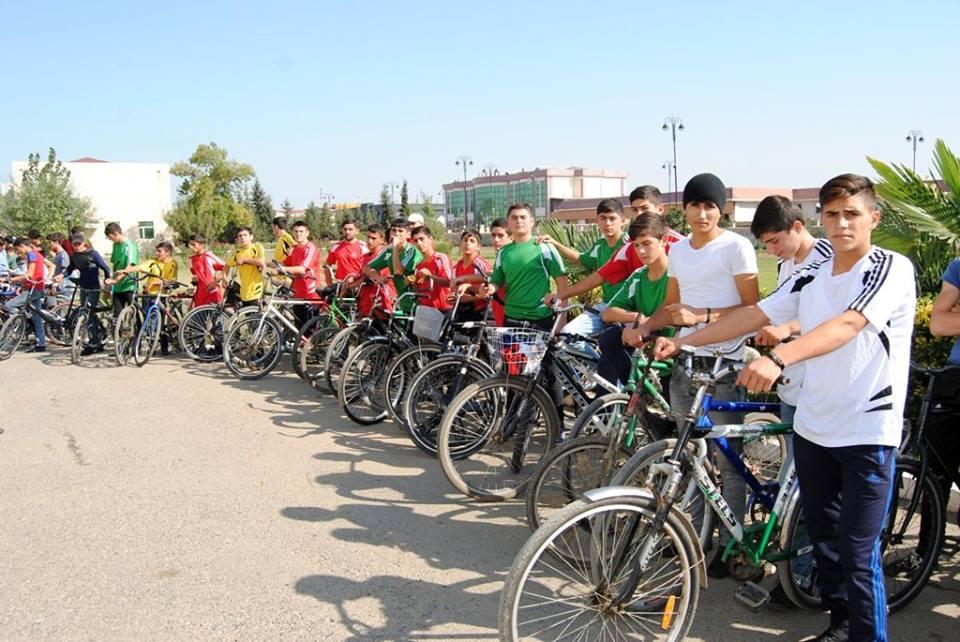 Biləsuvar rayonunda veloyürüş keçirildi